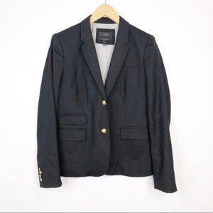 J. Crew 05157 Black Schoolboy Blazer Gold Buttons